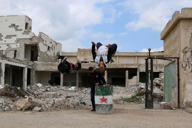 2017 04 28T140042Z 1228212875 RC1A69C45DA0 RTRMADP 3 MIDEAST CRISIS SYRIA PARKOUR