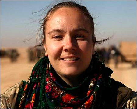 First British woman Kimberley Taylor joins Syrian Kurds Feb 2017 photo social