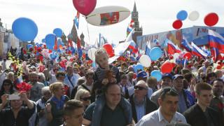 Τεράστια διαδήλωση στη Μόσχα για την Εργατική Πρωτομαγιά (pics)
