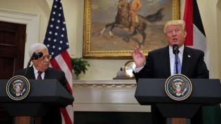 Τραμπ σε Αμπάς: Θα καταφέρουμε την ειρήνη μεταξύ Ισραήλ και Παλαιστίνης (pics)