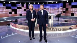 Σε υψηλούς τόνους το debate Μακρόν-Λεπέν (pics)