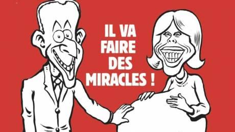 Η Μπριζίτ Τρονιέ έγκυος στο νέο εξώφυλλο του Charlie Hebdo