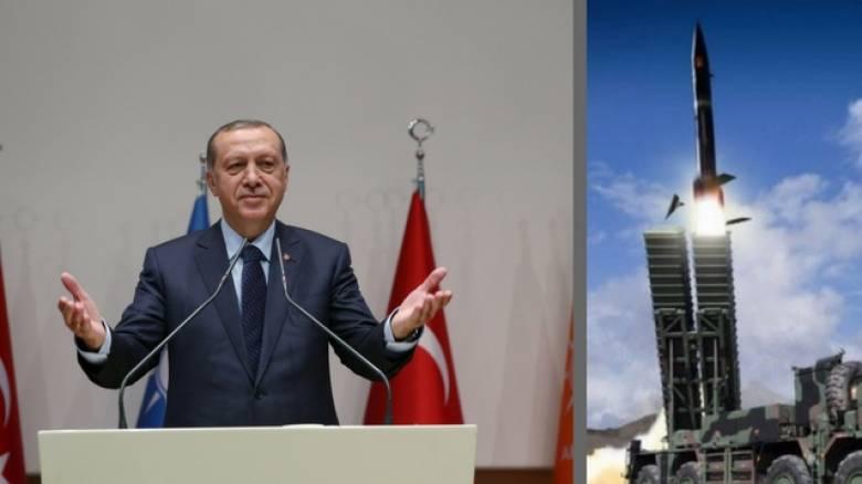 Επίδειξη δύναμης από Ερντογάν με εκτόξευση πυραύλου - Παραβιάσεις και στο Αιγαίο