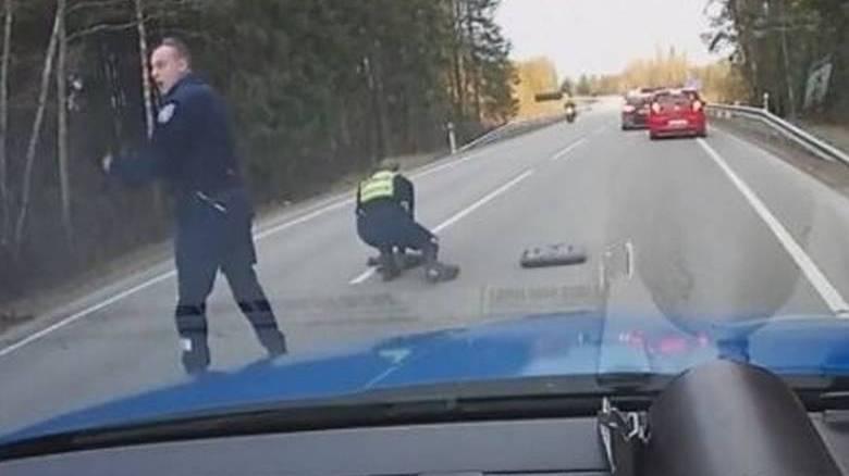 Έτσι ακινητοποιεί τους μεθυσμένους οδηγούς η αστυνομία της Εσθονίας (vid)