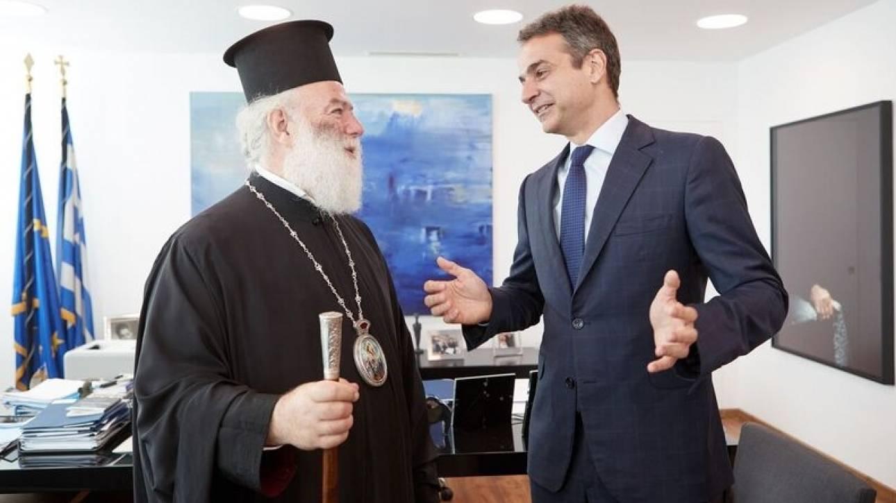 Ο διάλογος του Κυριάκου Μητσοτάκη με τον Πατριάρχη Αλεξανδρείας (pics)