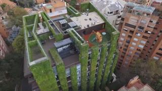Στη Μπογκοτά της Κολομβίας υπάρχει ο μεγαλύτερος κάθετος κήπος στον κόσμο (Vid)