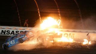 NASCAR: Τρομακτικό ατύχημα στο Κάνσας, από θαύμα γλύτωσε o οδηγός (vid)