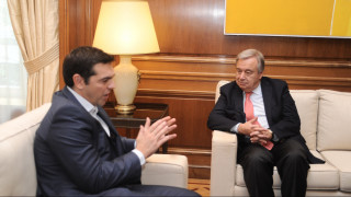 Τσίπρας σε Γκουτέρες: Η Ελλάδα είναι υπέρ μιας δίκαιης λύσης στο Κυπριακό