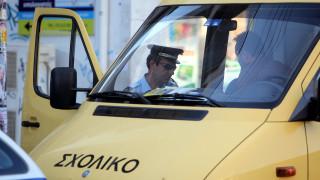 Συλλήψεις οδηγών και βεβαίωση παραβάσεων για μεταφορά μαθητών σε σχολεία
