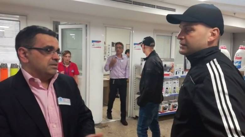 Εισβολή «Ρουβίκωνα» στα κεντρικά γραφεία αλυσίδας σούπερ μάρκετ (vid)