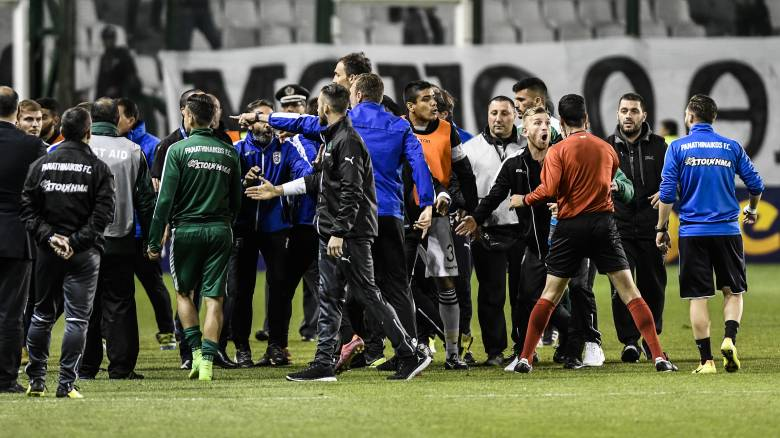 Super League: Οριστική διακοπή στο Παναθηναϊκός-ΠΑΟΚ