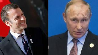 Η πρώτη τηλεφωνική επικοινωνία Πούτιν – Μακρόν