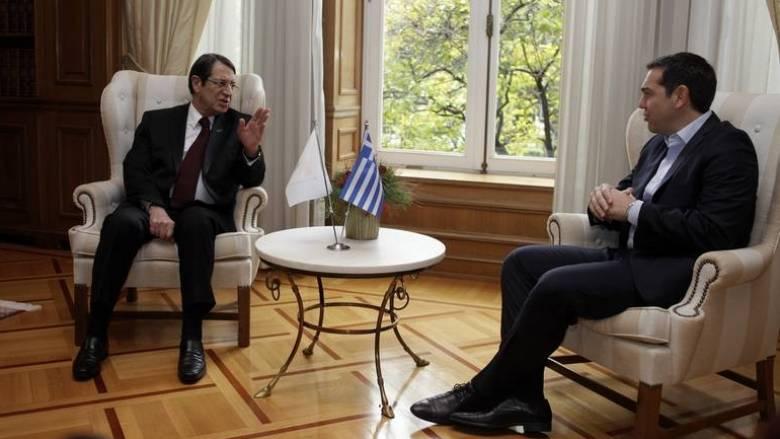 Συνάντηση Τσίπρα - Αναστασιάδη με τον βασιλιά της Ιορδανίας