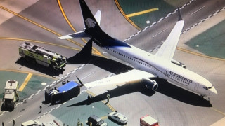 Λος Άντζελες: Επιβατικό αεροσκάφος συγκρούστηκε με φορτηγό -8 τραυματίες (pics)