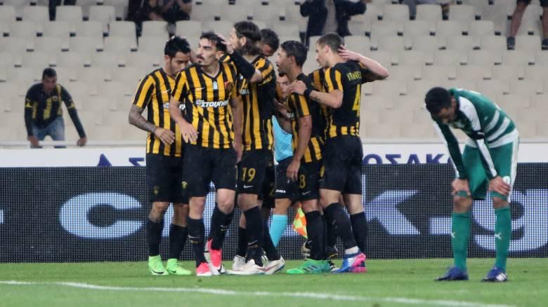 Super League: Ο Λάζαρος «ανέστησε» την ΑΕΚ κόντρα στον Παναθηναϊκό