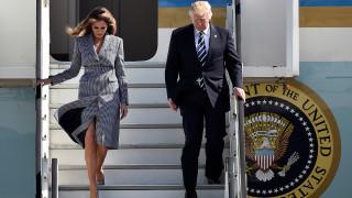 Ο Ντόναλντ Τραμπ και η Μελάνια έφθασαν στις Βρυξέλλες (pics)