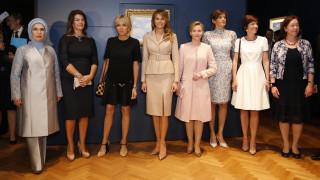 Νατοϊκή συμμαχία του στιλ: Μελάνια Τραμπ & Μπριζίτ Τρονιέ στις Βρυξέλλες