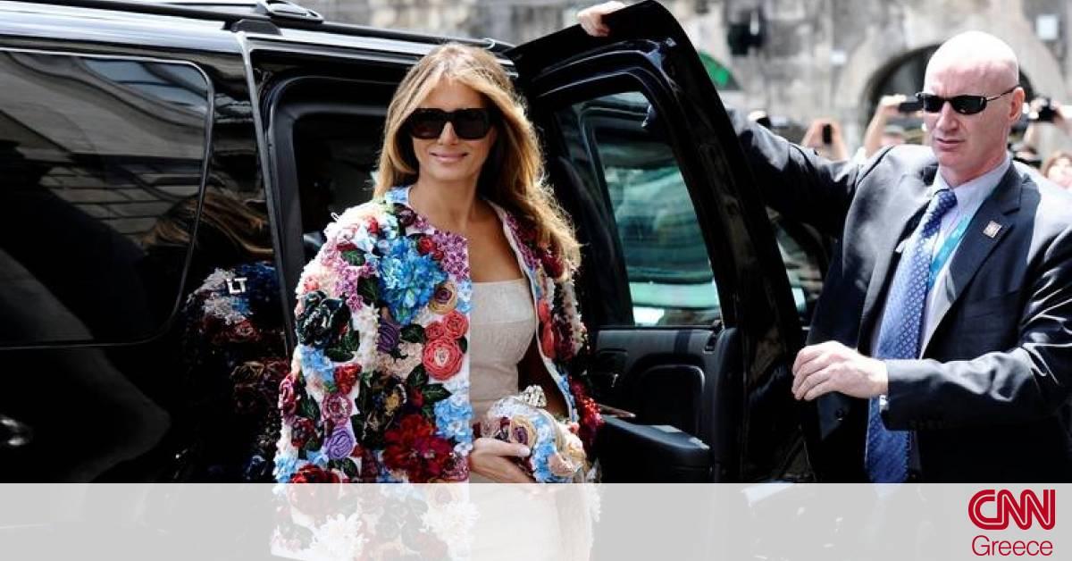 2be5841787b Η Μελάνια Τραμπ στη Σικελία με πανωφόρι αξίας... 51.500 δολαρίων (pics) -  CNN.gr