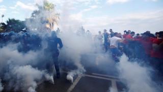 Σικελία: Συγκρούσεις διαδηλωτών με την αστυνομία στην πορεία κατά της G7 (pics)