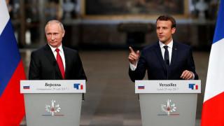 Τι συζήτησαν Πούτιν - Μακρόν στην πρώτη τους συνάντηση στις Βερσαλλίες (pics)