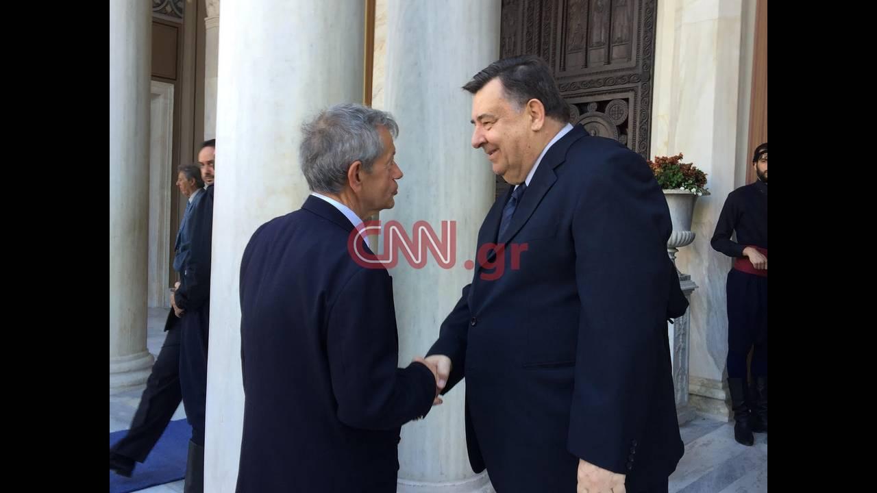 Ο πρόεδρος του ΛΑΟΣ, Γιώργος Καρατζαφέρης