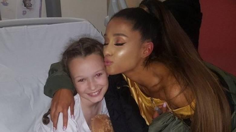 Η Αριάνα Γκράντε επισκέφτηκε τα τραυματισμένα παιδιά στο νοσοκομείο του Μάντσεστερ