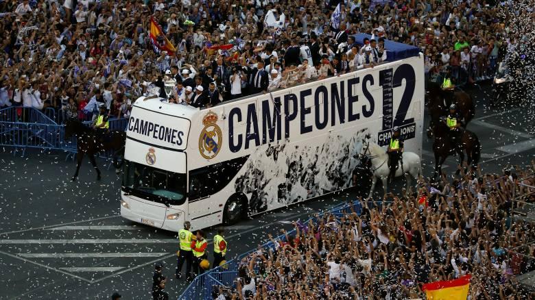Champions League: Η λαμπρή γιορτή της Ρεάλ Μαδρίτης για το 12ο (pic+vid)