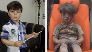 Ο πεντάχρονος Ομράν, το σύμβολο της Συρίας, παίζει με την οικογένειά του