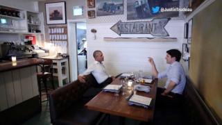 Έφαγαν και ήπιαν Ομπάμα και Τριντό