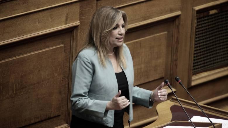 H Φ. Γεννηματά απορρίπτει την συνεννόηση με τον ΣΥΡΙΖΑ και ζητά εκλογές