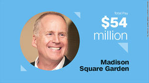 David O'Connor, Madison Square Garden Αμοιβή τοις μετρητοίς: $6.8 εκ. Αμοιβή μέσω διάθεσης μετόχων: $47.3 εκ.