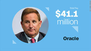 Mark Hurd, Oracle Αμοιβή τοις μετρητοίς: $1.1 εκ. Αμοιβή μέσω διάθεσης μετόχων: $40 εκ.