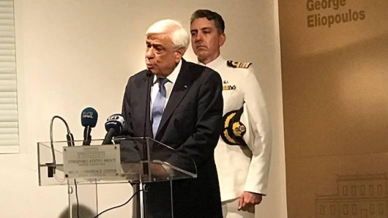 Π. Παυλόπουλος: Προδιαγεγραμμένη η μοίρα όσων στηρίζονται μόνο στην ισχύ