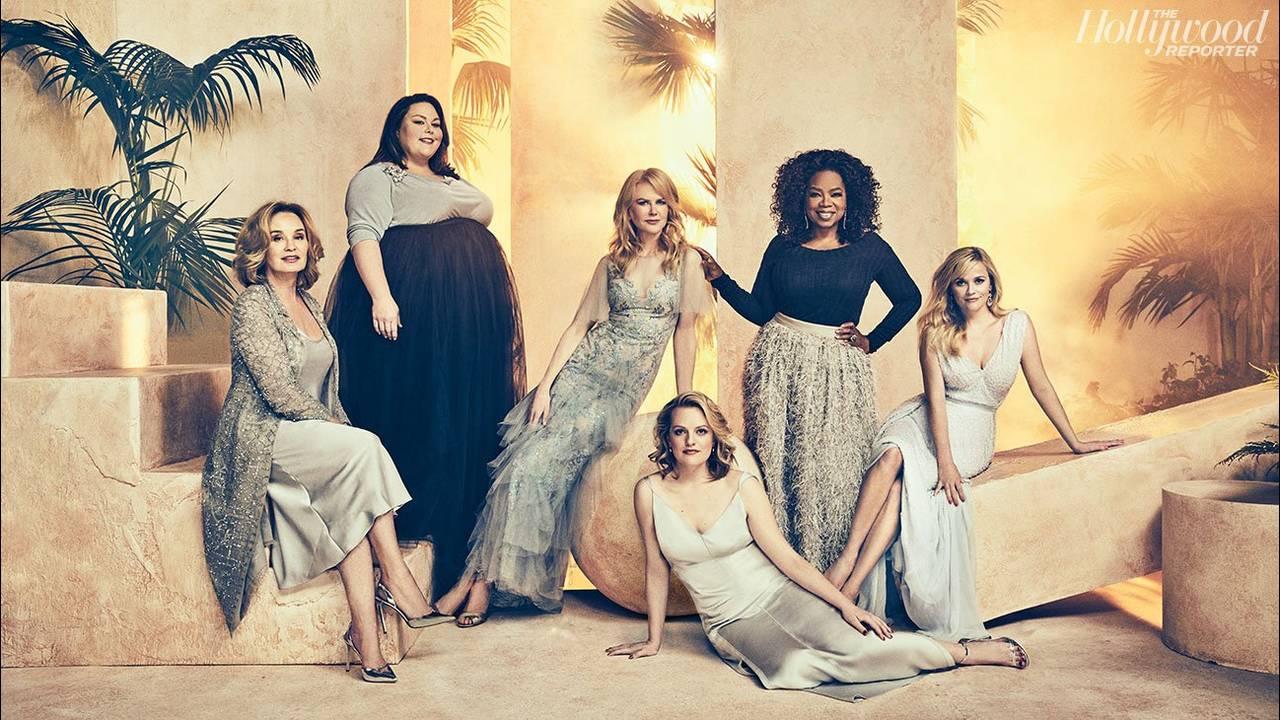 Jessica Lange (68), Chrissy Metz (36), Nicole Kidman (49), Elisabeth Moss (34), Oprah Winfrey (63), Reese Witherspoon (41)