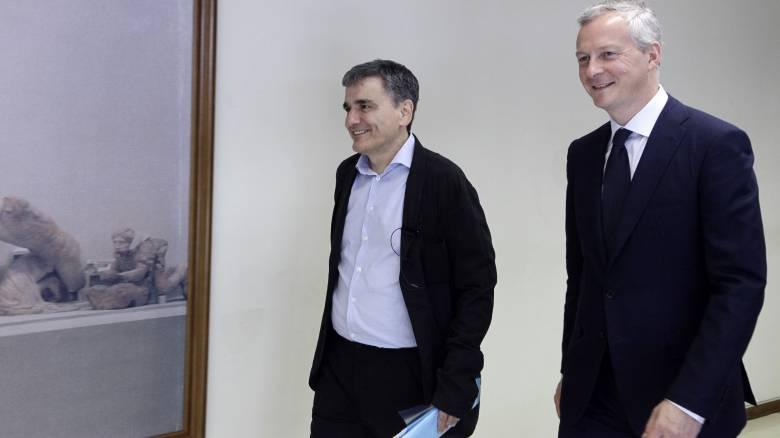Συνάντηση Τσακαλώτου - Λεμέρ: Αισιοδοξία για συμφωνία στο Eurogroup (pics&vid)