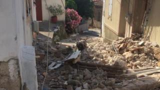Σεισμός Μυτιλήνη: Απεγκλωβίστηκε ζευγάρι ηλικιωμένων από το χωριό Βρίσα