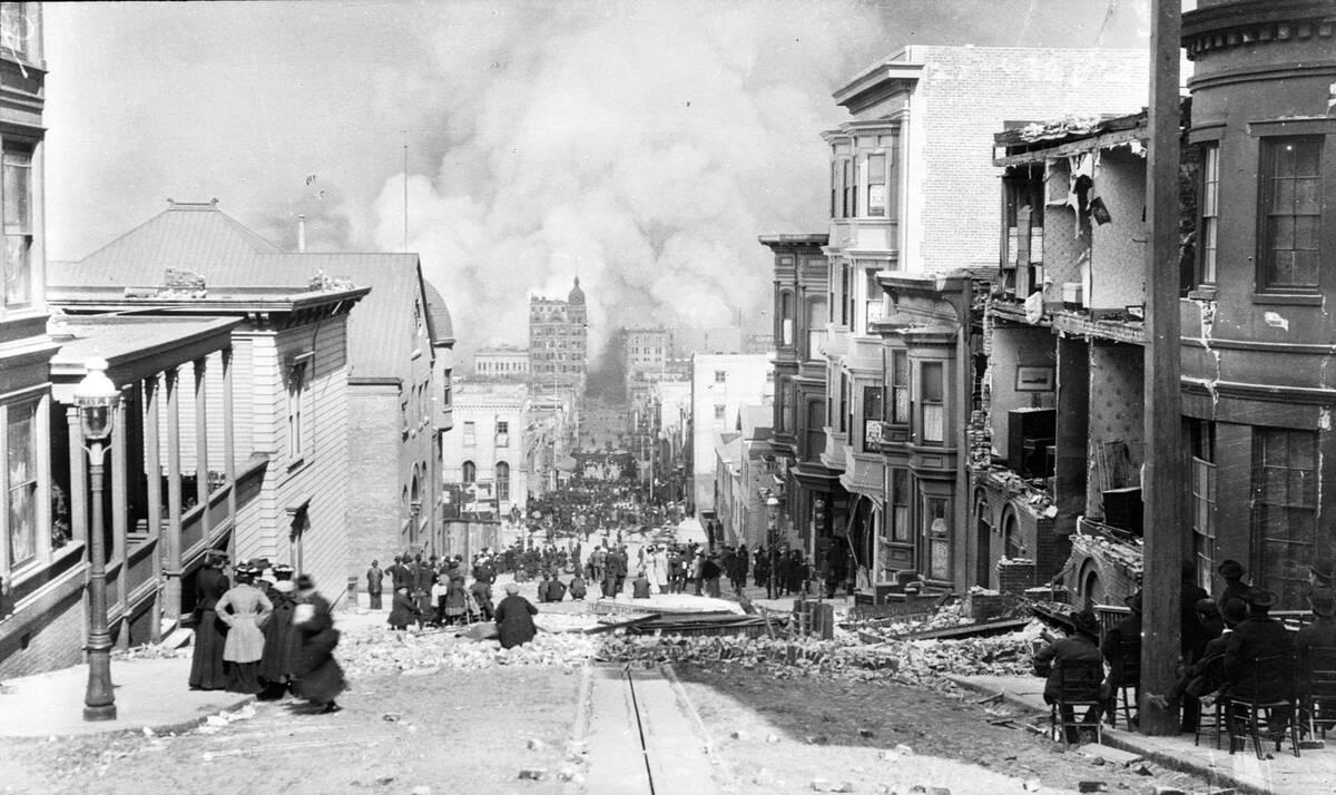 San Francisco Fire Sacramento Street 1906 04 18