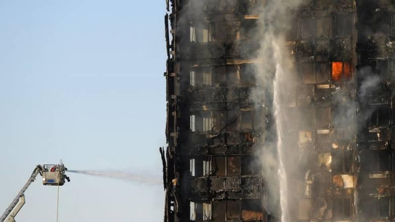 Φωτιά στο Λονδίνο: Live εικόνα από το σημείο