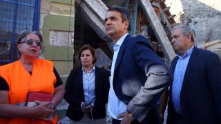 Στη Βρίσα ο Κ. Μητσοτάκης - Ζήτησε άμεση στήριξη στους κατοίκους και απαλλαγή από τον ΕΝΦΙΑ (pics)