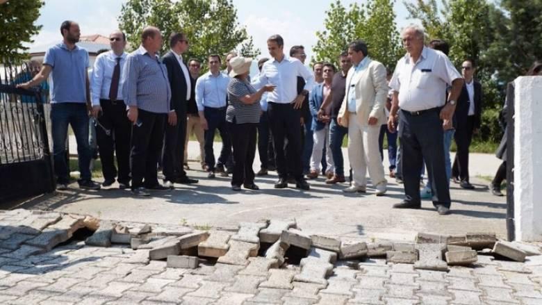 Μητσοτάκης: Θα πάρει χρόνο να αποκατασταθεί η ζημιά στο Αμύνταιο (pics)