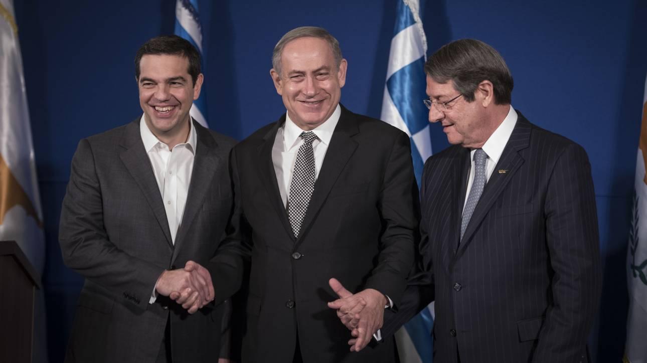 Θεσσαλονίκη: Τριμερής Σύνοδος Κορυφής Ελλάδας - Ισραήλ - Κύπρου για τον αγωγό φυσικού αερίου