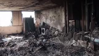 Συγκλονιστικό βίντεο από το εσωτερικό του Πύργου Γκρένφελ - Στάχτη και αποκαΐδια (vid)