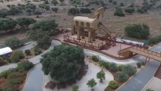Ο Δούρειος Ίππος της Κρήτης από ψηλά (vid)