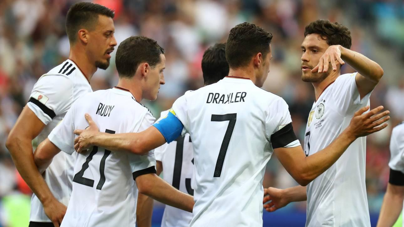 Confederations Cup 2017: Κερδίζει και με τα «δεύτερα» η Γερμανία