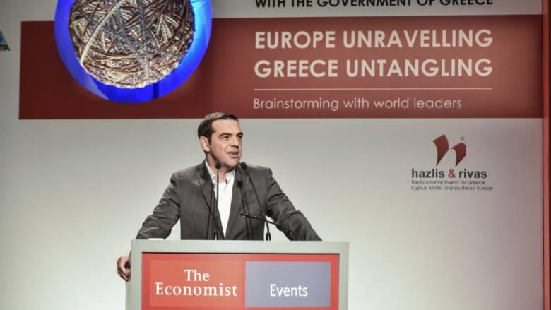 Τσίπρας στο Economist: Διαμορφώνονται συνθήκες εξόδου από την επιτροπεία