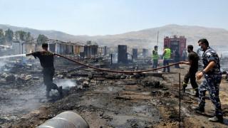 Πυρκαγιά με έναν νεκρό σε καταυλισμό Σύρων προσφύγων στον Λίβανο