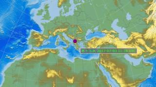 Ισχυρή σεισμική δόνηση στην ΠΓΔΜ, κοντά στα σύνορα με την Ελλάδα