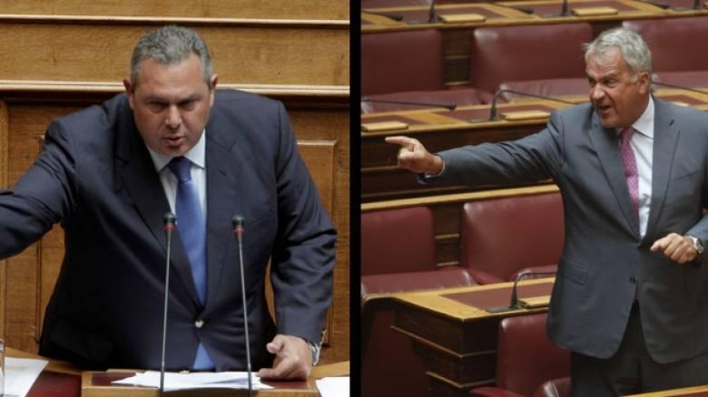 Σκληρή κόντρα Καμμένου - Βορίδη στη Βουλή