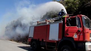Σε ύφεση η φωτιά στην Κέρκυρα