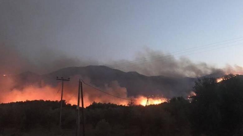 Ολονύκτια μάχη με τις φλόγες στη Ροδόπη